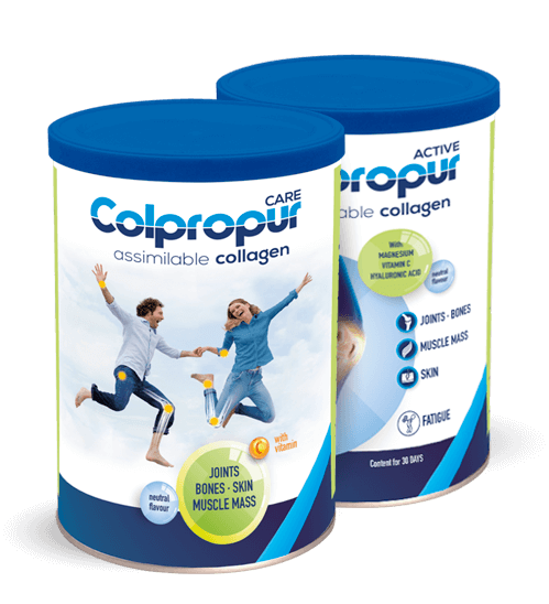 Food supplements of hydrolysed collagen COLPROPUR with perceptible health benefits.